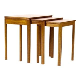McIntosh Mid-Century Danish Modern Teak Nesting Tables - Set of 3 For Sale