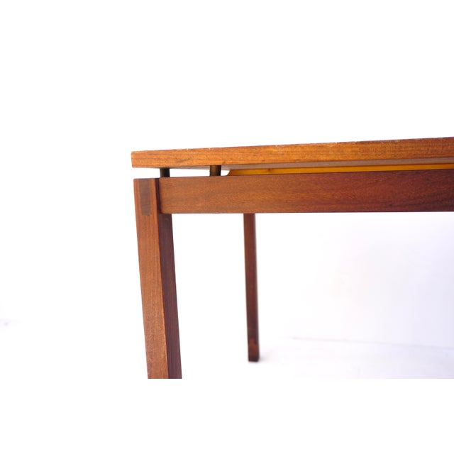 Mid-Century Hans Olsen Teak End Table || Made in Denmark || One of Two For Sale In Los Angeles - Image 6 of 13