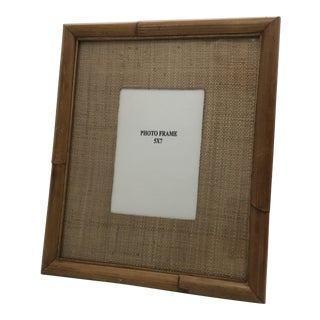 Vintage Bamboo Picture Frame For Sale