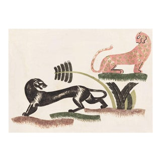 Animals Playing 1, Unframed Artwork For Sale