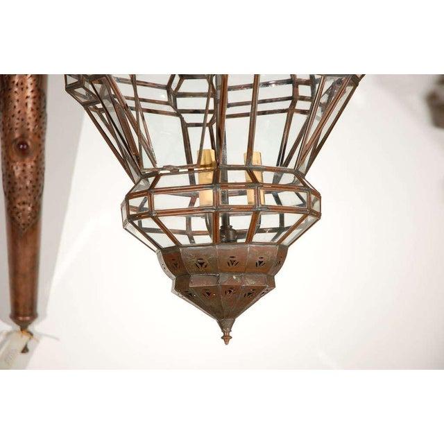 Gold Granada Moroccan Clear Glass Pendant For Sale - Image 8 of 10