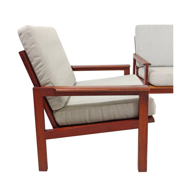 Mid-Century Wikkelso Sofa & Two Lounge Chairs - Image 4 of 9