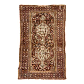 Antique Wool Shiraz Rug For Sale