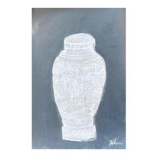 Figurative Drawing Gray Vase I For Sale