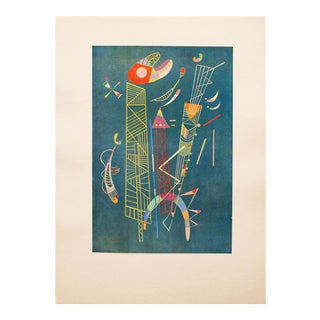 1947 Wassily Kandinsky, Construction Legere Parisian Plate For Sale
