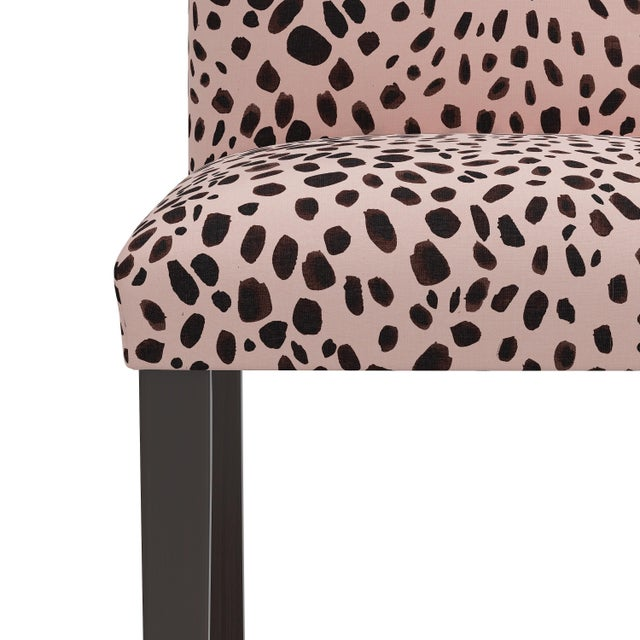 Not Yet Made - Made To Order Dining Chair in Washed Cheetah Pink Black For Sale - Image 5 of 8