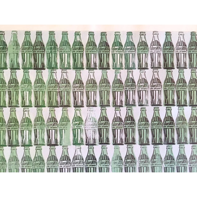 """Andy Warhol Andy Warhol Foundation Vintage 1999 Pop Art Lithograph Calendar Print """" Green Coca - Cola Bottles """" 1962 For Sale - Image 4 of 8"""