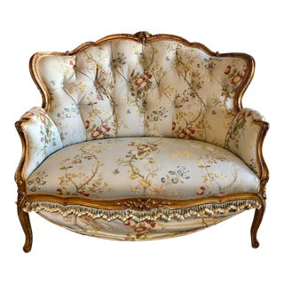 Antique French Victorian Settee For Sale