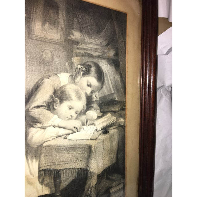 "19th Century ""The Writing Lesson"" Lithograph - Image 10 of 11"
