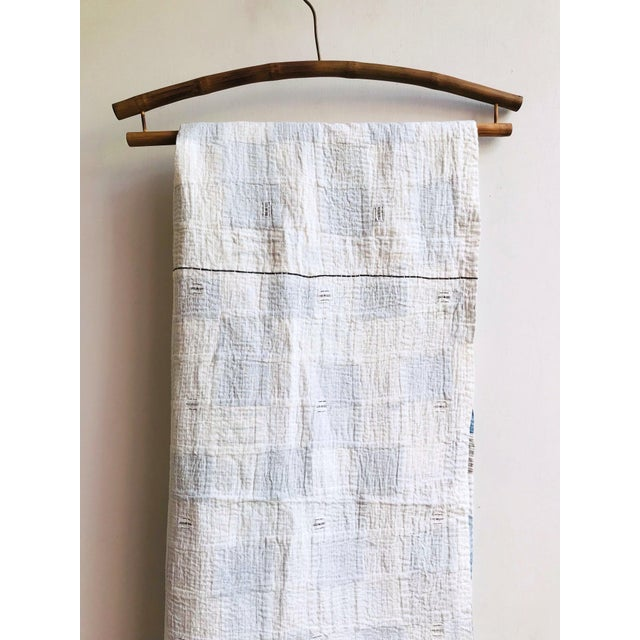 2020s Boro Patchwork Quilt Throw Blanket For Sale - Image 5 of 7