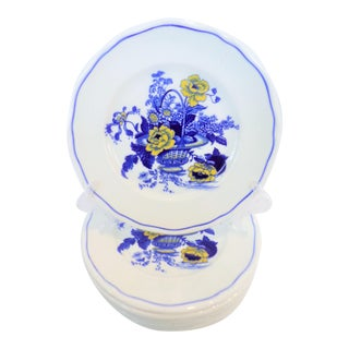Vintage Wedgwood Enoch Blue and Goldenrod Plates - Set of 8 For Sale