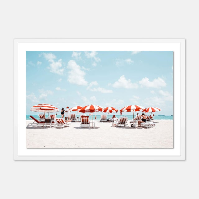 Contemporary Miami I by Natalie Obradovich in White Framed Paper, Medium Art Print For Sale - Image 3 of 3