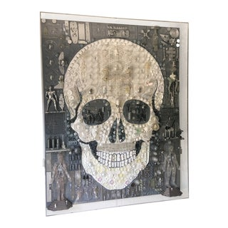 "Acrylic Box by Rosello ""Skull"" For Sale"