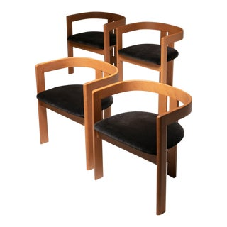 "Set of Four ""Pigreco"" Chairs by Tobia Scarpa for Gavina For Sale"