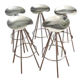 Pepe Cortes for Amat Mid-Century Modern Jamaica Stools- Set of 5