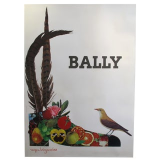 1965 Vintage French Poster, Bally Shoes (Fruits) by Roger Bezombes For Sale