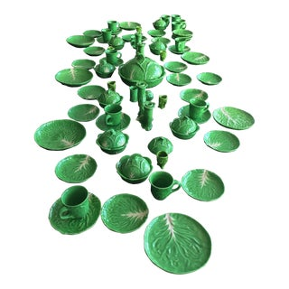 Italian Green Leaf Paste Ware For Sale