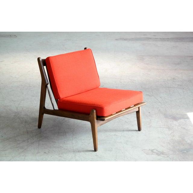 Ib Kofod-Larsen Ib Kofod-Larsen Lounge or Slipper Chair Danish Midcentury For Sale - Image 4 of 11