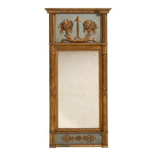 18th Century Gustavian Gilt Frame Mirror With Original Glass
