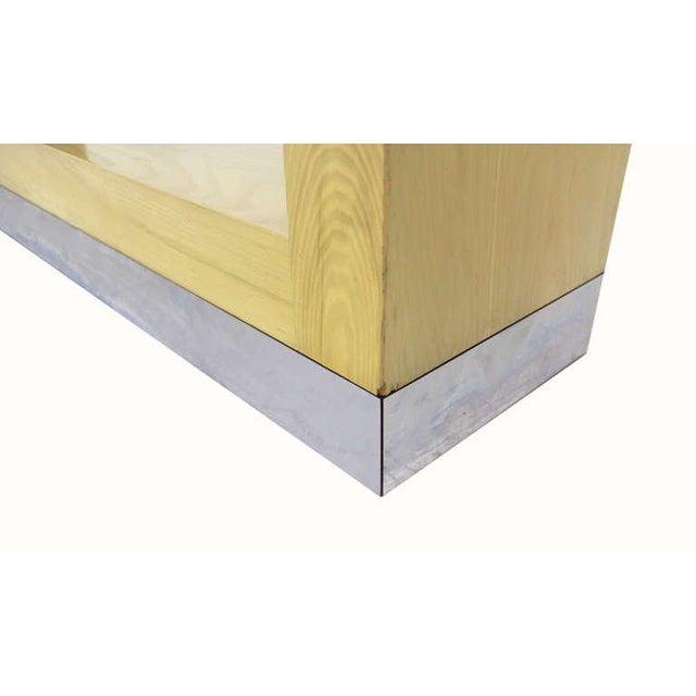 4 shelves modern shelving custom unit in style of M. Baughman. Missing two glass shelves.