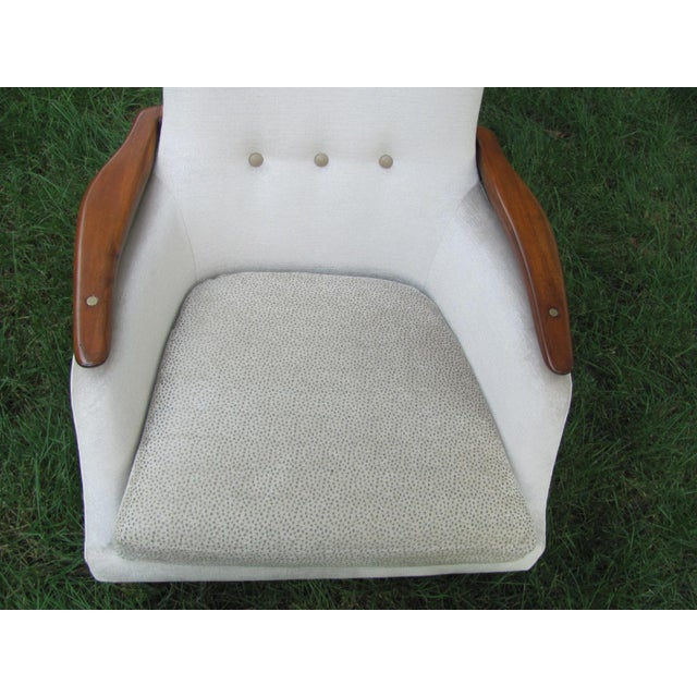 Brown Vintage Mid Century Finn Juhl Style Lounge Chair For Sale - Image 8 of 13