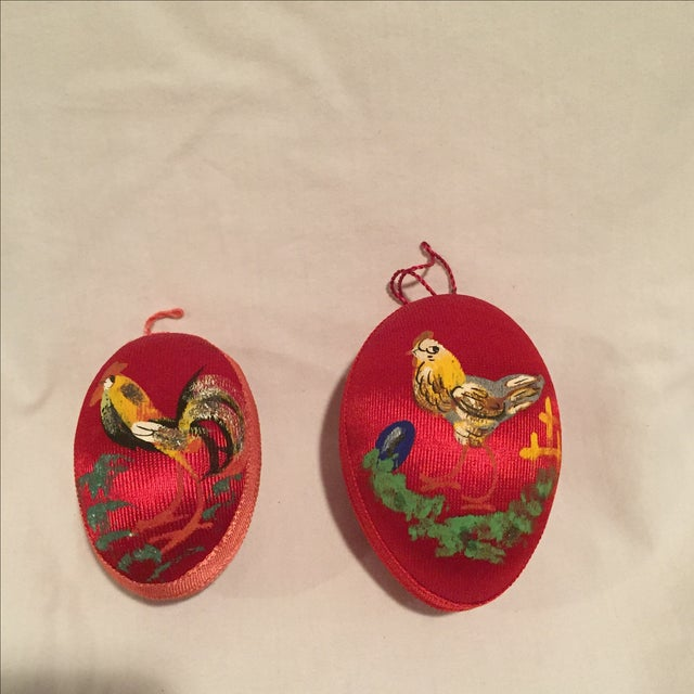 Antique Satin Ornaments - Set of 9 - Image 5 of 8