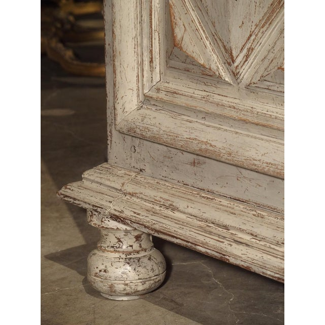17th Century Painted 17th Century French Oak Diamond Point Armoire For Sale - Image 5 of 13