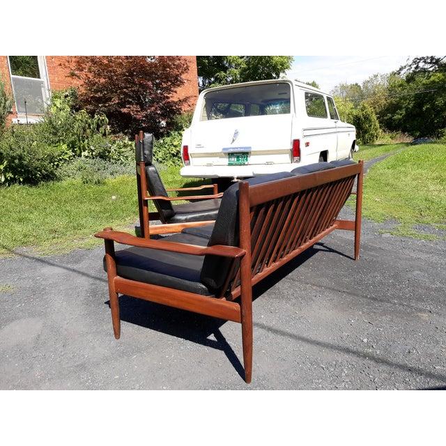 Finn Juhl Danish Teak Sofa and Chair Set For Sale - Image 4 of 13