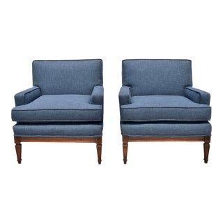 French Neoclassical Lounge Chairs
