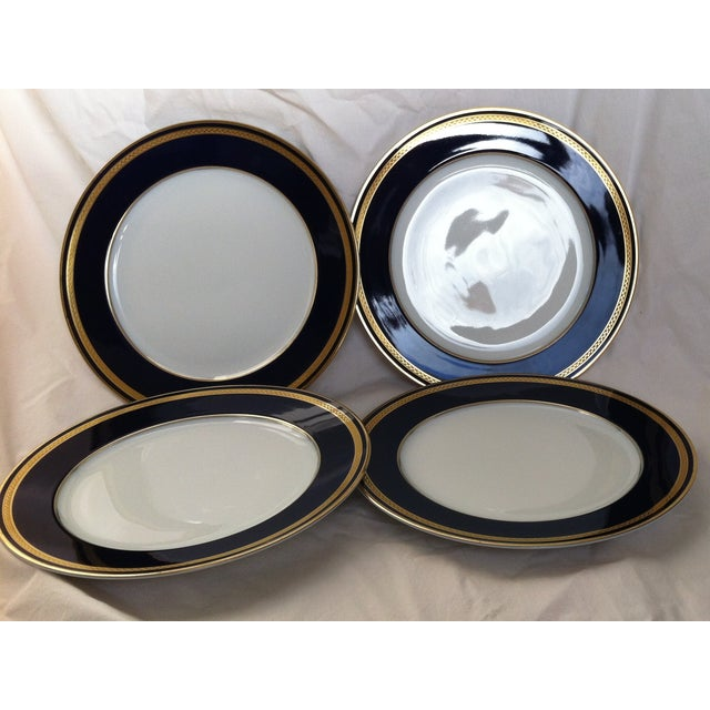 "Set of four ""Monarch"" china plates. Hutschenreuther porcelain began in 1814 in the northern area of Bavaria. The deep..."