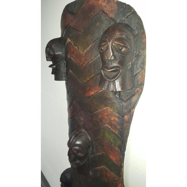 Hand Crafted African Wooden Shield - Image 9 of 9