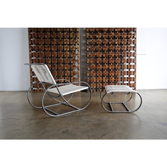 1960s Bronze Outdoor Lounge Chair and Ottoman by Kipp Stewart for Terra of California For Sale - Image 5 of 13