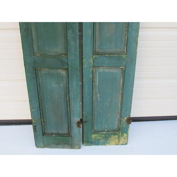 Green Cape May Shutters - A Pair For Sale - Image 5 of 6