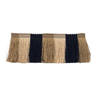 "Color Block Brush Fringe Trimming - Overall Height 3"" - 13.5 Yards Total For Sale"