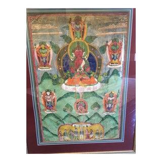 Late 19th/Early 20th C Thibetan Thanka Painting