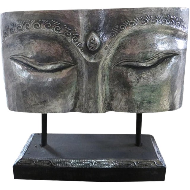 Indonesian Silver Face Panel on Stand For Sale