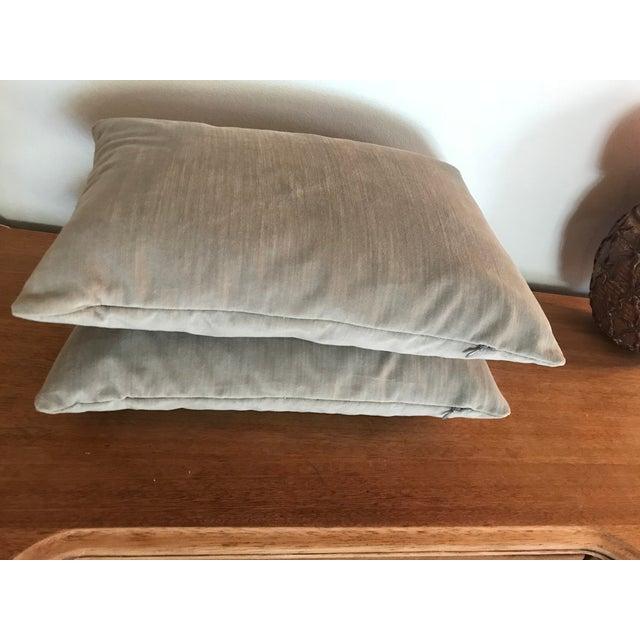 Velvet Lumbar Pillows - a Pair - Image 3 of 6