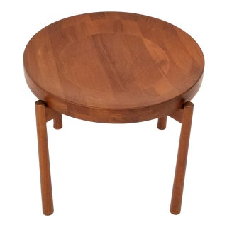 1960s Swedish Modern Jens Quistgaard Flip Top Teak Side Table For Sale