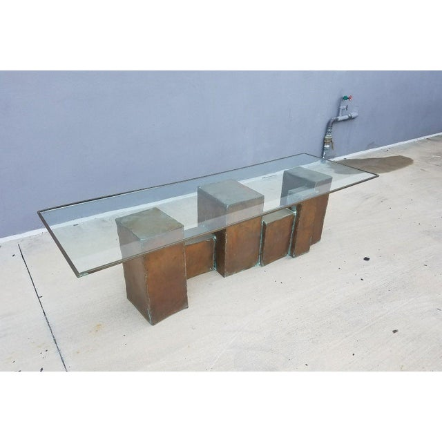 Copper 1970's Vintage David Marshall Brutalist Coffee Table For Sale - Image 7 of 11