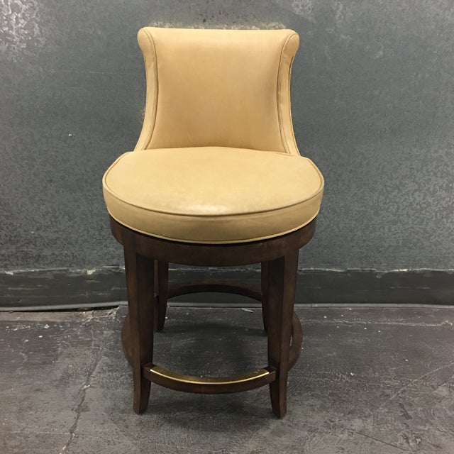 New Pearson Savannah Leather Swivel Counter Stool - Image 2 of 7