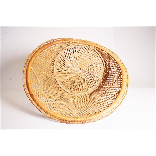 Vintage Boho Chic Wicker Pod Chair For Sale - Image 10 of 11