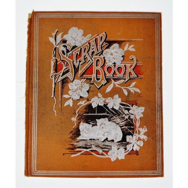 Antique Victorian Scrapbook Cover With Kitten Design Great