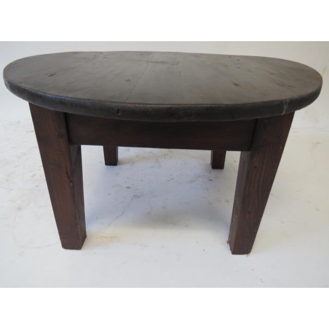 French Market Coffee Table: 1930s Rustic Pine Coffee Table