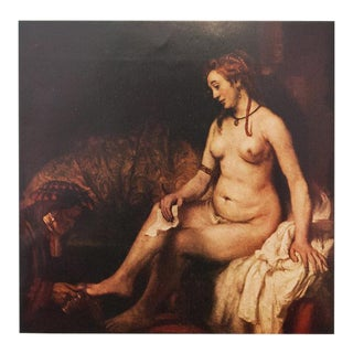 """""""Batheba"""" by Rembrandt, 1950s First Edition Lithograph For Sale"""