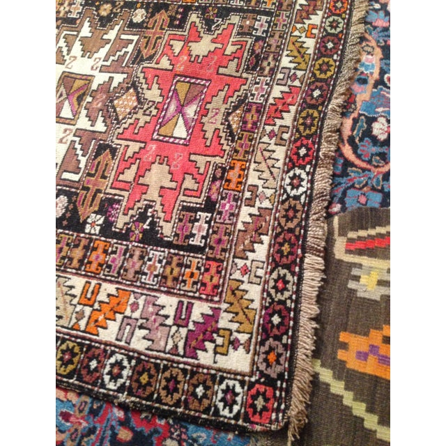 "Funky 1920s Russian Area Rug, 3'6"" X 4'9"" - Image 5 of 10"