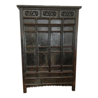 Rustic Dark Wood Armoire