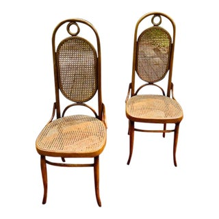 """1960s Vintage Michael Thonet """"Model 17"""" Bentwood Side Chairs - a Pair For Sale"""