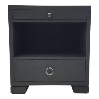 Bungalow 5 Modern Frances 2-Drawer Navy Blue Side Table For Sale
