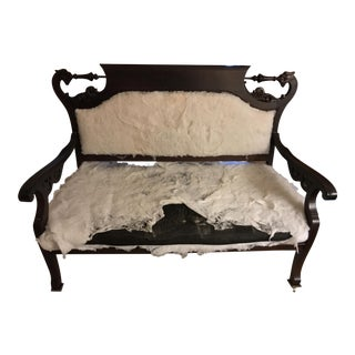 Refinished Antique Settee With Gryphons