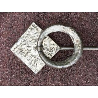 Art Deco Arteriors Home Silver Leaf Iron Towel Holder Preview